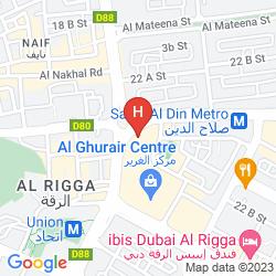 Map SWISSOTEL AL GHURAIR DUBAI