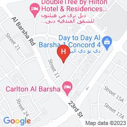 Map AL WALEED PALACE HOTEL APARTMENTS - AL BARSHA