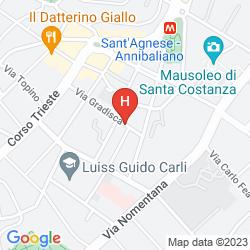 Map MERCURE ROMA CORSO TRIESTE