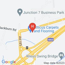Map MERCURE BLACKBURN DUNKENHALGH HOTEL & SPA