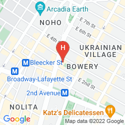 Map THE BOWERY HOTEL