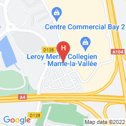 Map CAMPANILE MARNE LA VALLEE TORCY HOTEL