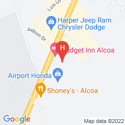 Map ROYAL INN KNOXVILLE AIRPORT ALCOA