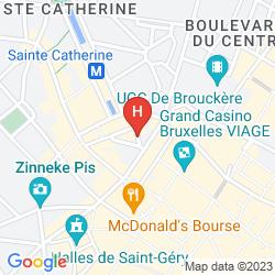Map IBIS BRUSSELS CENTRE SAINTE CATHERINE