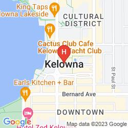 Map HOLIDAY INN WEST KELOWNA