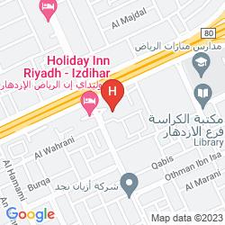 Map HOLIDAY INN RIYADH – IZDIHAR