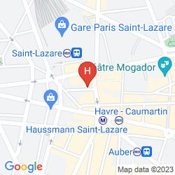 Map MERCURE PARIS OPERA GARNIER