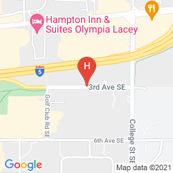 Map CANDLEWOOD SUITES OLYMPIA/LACEY
