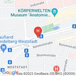 Map HOLIDAY INN EXPRESS HEIDELBERG CITY CENTRE