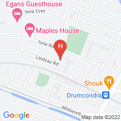 Map ABBERLEY HOUSE BED & BREAKFAST