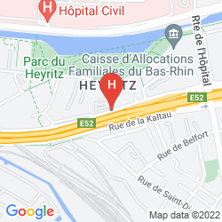 Map HOLIDAY INN EXPRESS STRASBOURG CENTRE