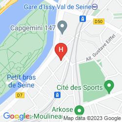 Map RESIDHOME PARIS ISSY LES MOULINEAUX