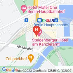 Map STEIGENBERGER HOTEL AM KANZLERAMT