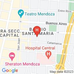 Map APART HOTEL MENDOZA