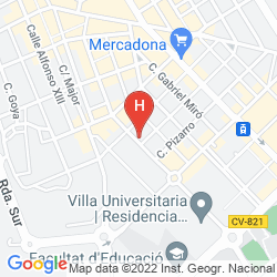 Map VILLA ALOJAMIENTO Y CONGRESOS