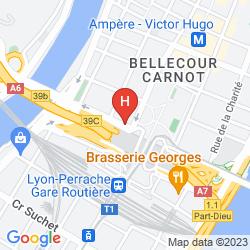 Map INTER-HOTEL DE LA LOIRE