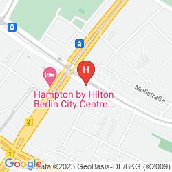 Map MERCURE HOTEL BERLIN AM ALEXANDERPLATZ