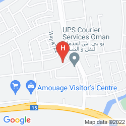 Map HOLIDAY INN MUSCAT AL SEEB
