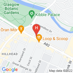 Map THE KELVIN HOTEL WEST END