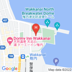 Map SURFEEL HOTEL WAKKANAI