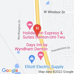 Map HOLIDAY INN EXPRESS & SUITES DENTON-UNT-TWU