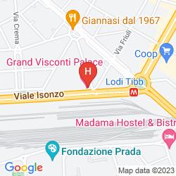 Map GRAND HOTEL VISCONTI PALACE