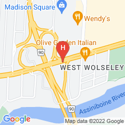 Map RAMADA WINNIPEG AIRPORT VISCOUNT GORT