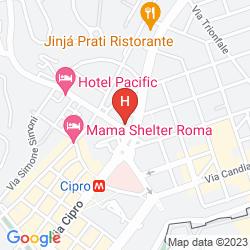 Map A CASA DI SERENA A SAN PIETRO ROMA