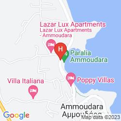 Map AMMOUDARA BEACH HOTEL & APARTMENTS