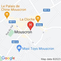 Map HOTEL & APARTHOTEL ALIZE MOUSCRON