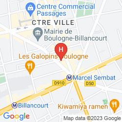 Map CAMPANILE PARIS BOULOGNE-BILLANCOURT