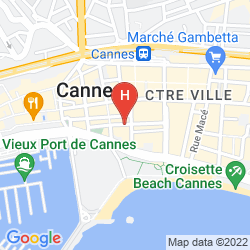 Map FIVE SEAS HOTEL CANNES