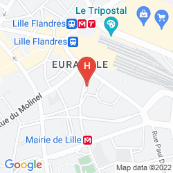 Map IBIS LILLE CENTRE GARES