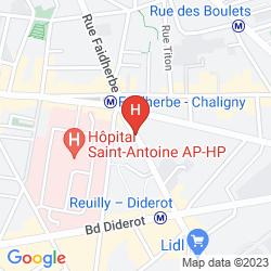 Map IBIS PARIS GARE DE LYON REUILLY