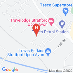 Map TRAVELODGE STRATFORD UPON AVON
