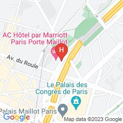 Map AC HOTEL PARIS PORTE MAILLOT