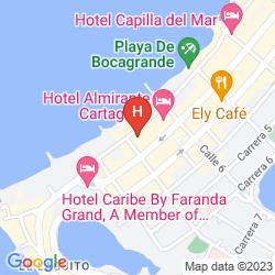 Map INTERCONTINENTAL CARTAGENA DE INDIAS