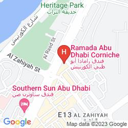 Map RAMADA ABU DHABI CORNICHE