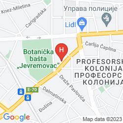 Map 88 ROOMS HOTEL BELGRADE