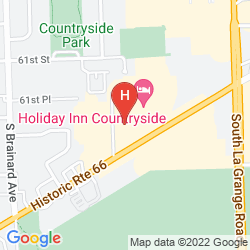 Map BEST WESTERN CHICAGOLAND - COUNTRYSIDE