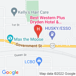 Map BEST WESTERN PLUS DRYDEN HOTEL & CONFERENCE CENTRE