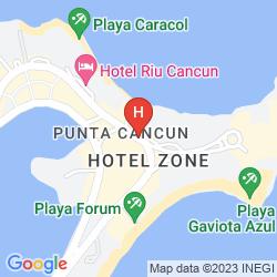 Map ALOFT CANCUN