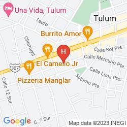 Map HOTEL RESIDENCIA LA MARIPOSA