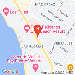 Map HACIENDA DE VALLARTA LAS GLORIAS