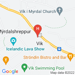 Map ICELANDAIR HOTEL VIK