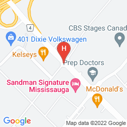 Map DOUBLETREE BY HILTON HOTEL TORONTO AIRPORT WEST