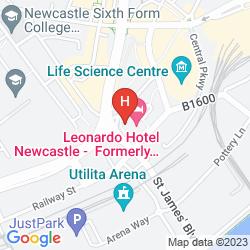 Map JURYS INN NEWCASTLE