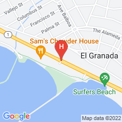 Map THE BEACH HOUSE HOTEL HALF MOON BAY