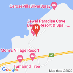Map JEWEL PARADISE COVE BEACH RESORT AND SPA ALL INCLUSIVE
