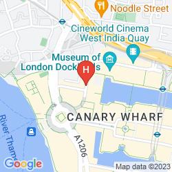 Map TUNE HOTEL - LONDON, CANARY WHARF